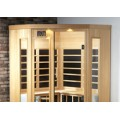 Infrared Sauna B400C Corner in Cedar