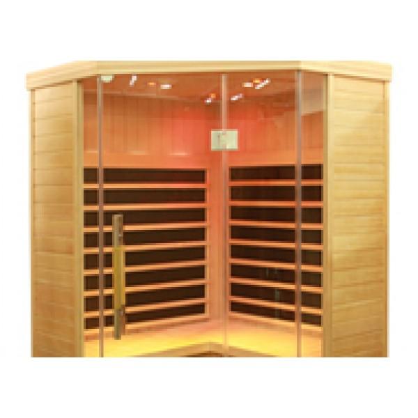 Infrared Sauna S870 Corner in Hemlock
