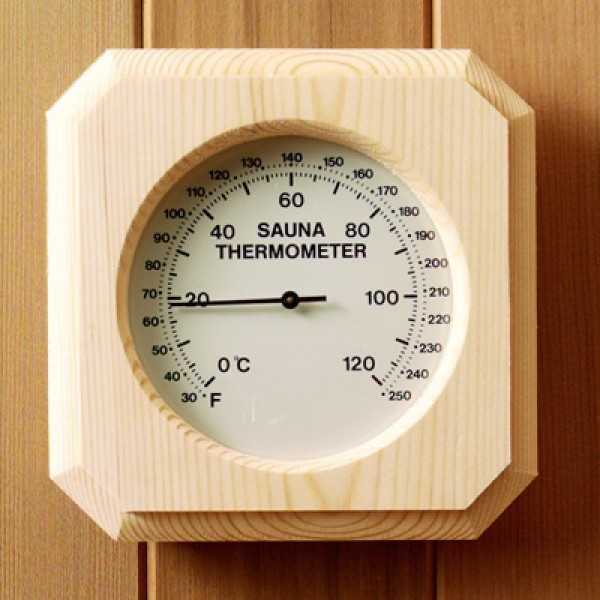 Deluxe Pine Encased Thermometer