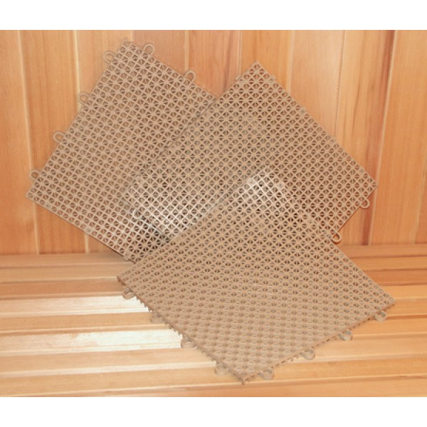 Superdek Interlocking Molded Plastic Floor Tiles in Tan