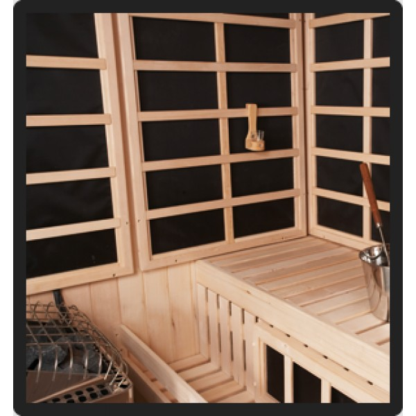 Panel Built Combo Sauna, 5 x 5 x 7, 5 Sided