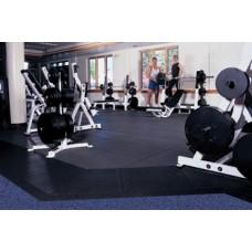 "Elite 1"" Rubber Flooring - Gym Brown"