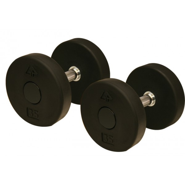 Solid Head Rubber Pro Dumbbell, 10-75 lb.