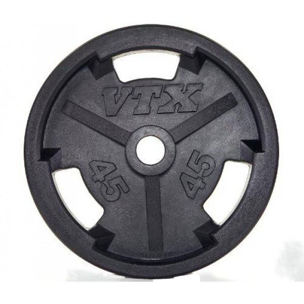 Olympic Wide Flanged Rubber Plates, 10 lb