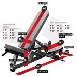 Legend Pro Series Self-Adjusting Three Way Bench