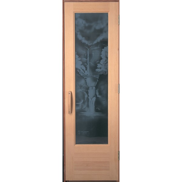 Multnomah Falls Design Etched Glass for 2' Doors