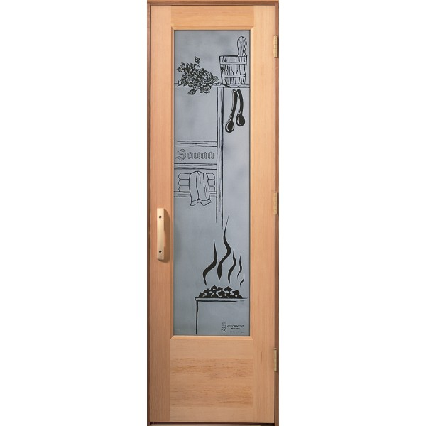 "Negative Image Sauna Design for 2'4"" to 3' Doors"