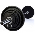 "2"" Olympic Black Plate Set, 210 lb."