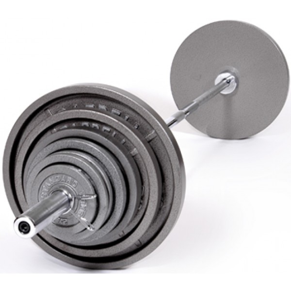 Olympic Gray Plate Set, 210 lb