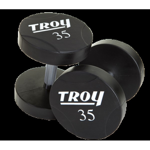 Urethane Round Head Dumbbells, Set of 80-100 lb.