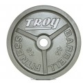 Machined Gray Wide Flanged Olympic Plate, 10 lb.